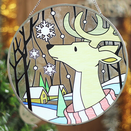 Christmas Stained Glass Suncatchers - SC01810AB