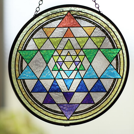 Round Stained Glass Window Hangings - SC02106EA