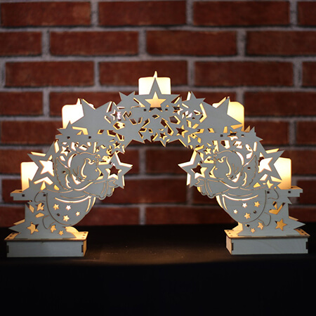 Wooden Candle Bridge Lights - CW07010AA